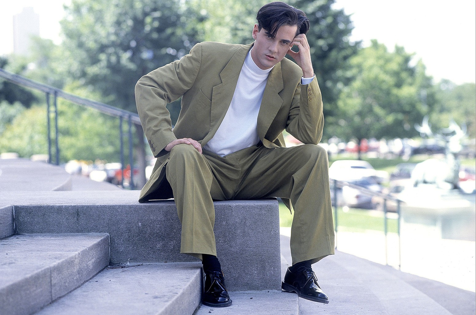 Tommy Page photographed in Chicago, Illinois on July 1, 1990.