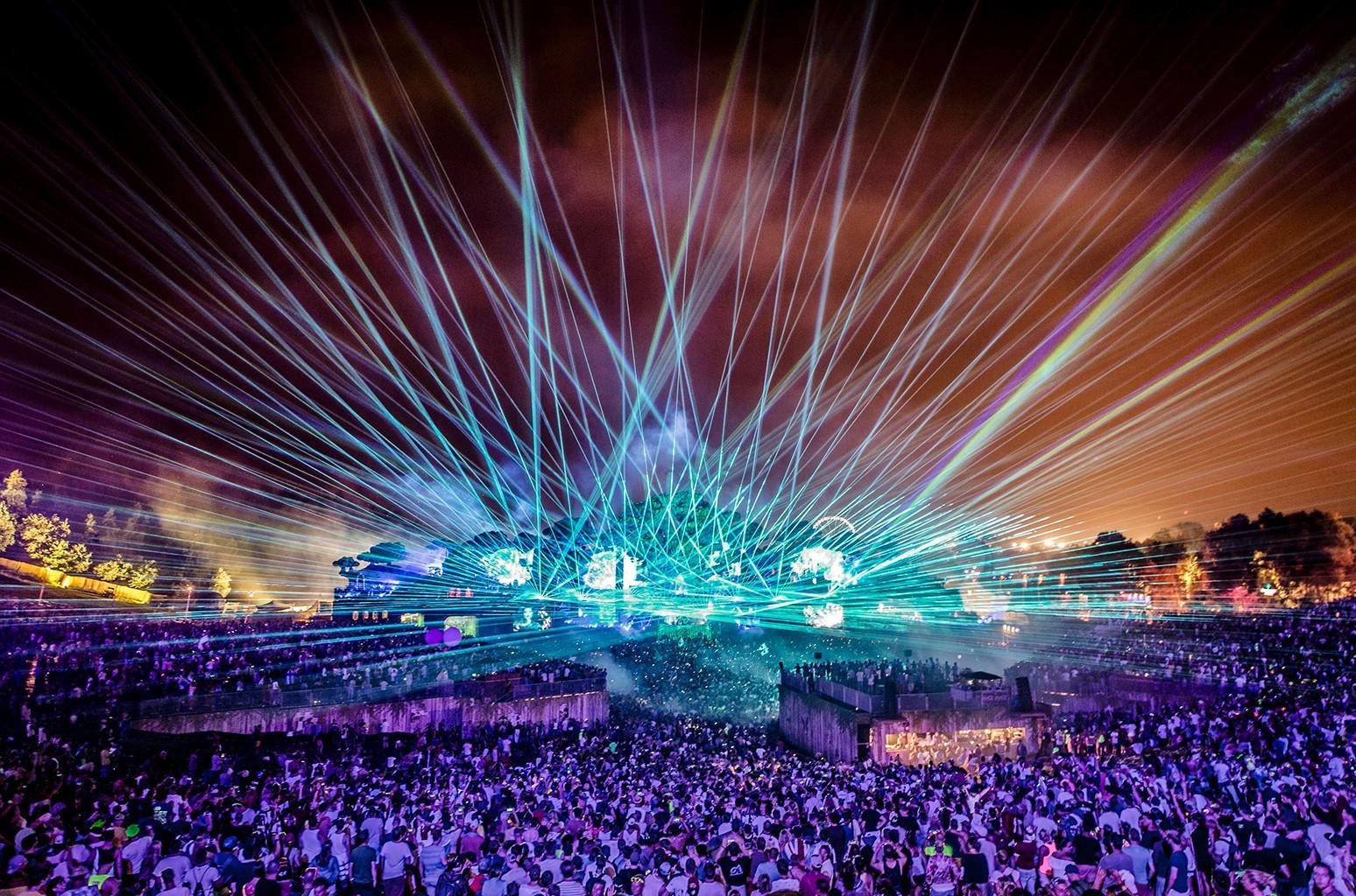 Tomorrowland Electronic Music Festival at the De Schorre recreation area in Boom, Belgium.