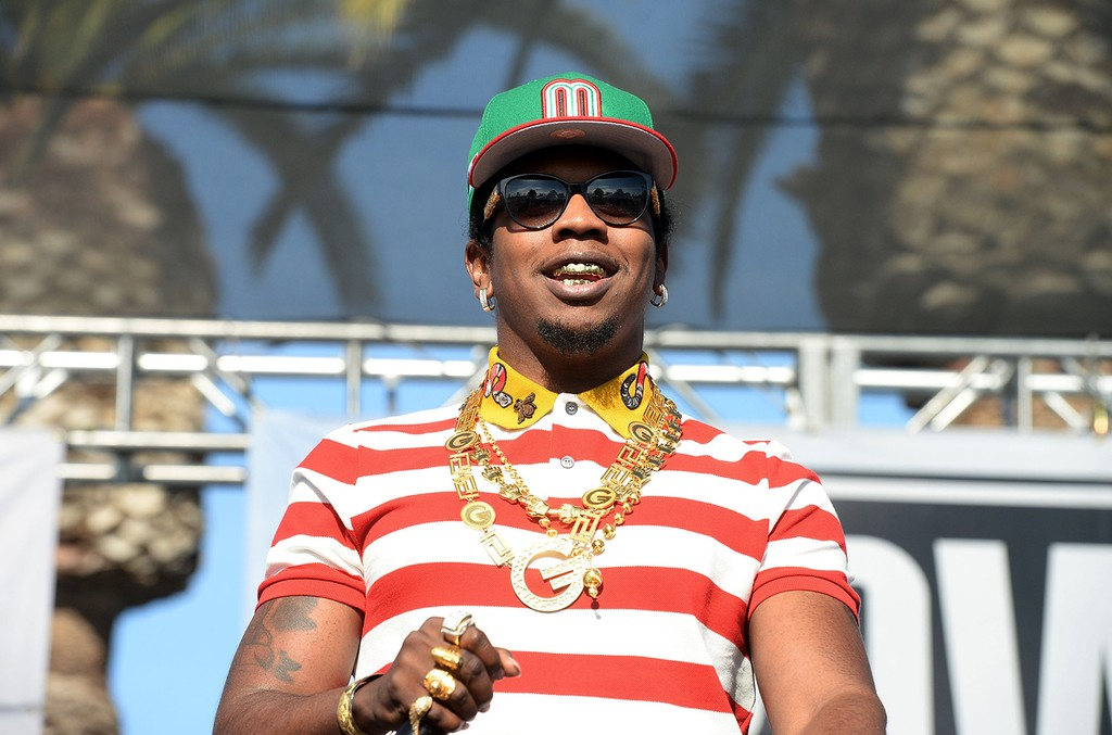 Trinidad James appears for an interview backstage at the Power 106 Powerhouse show at Honda Center on June 3, 2016 in Anaheim, Calif.