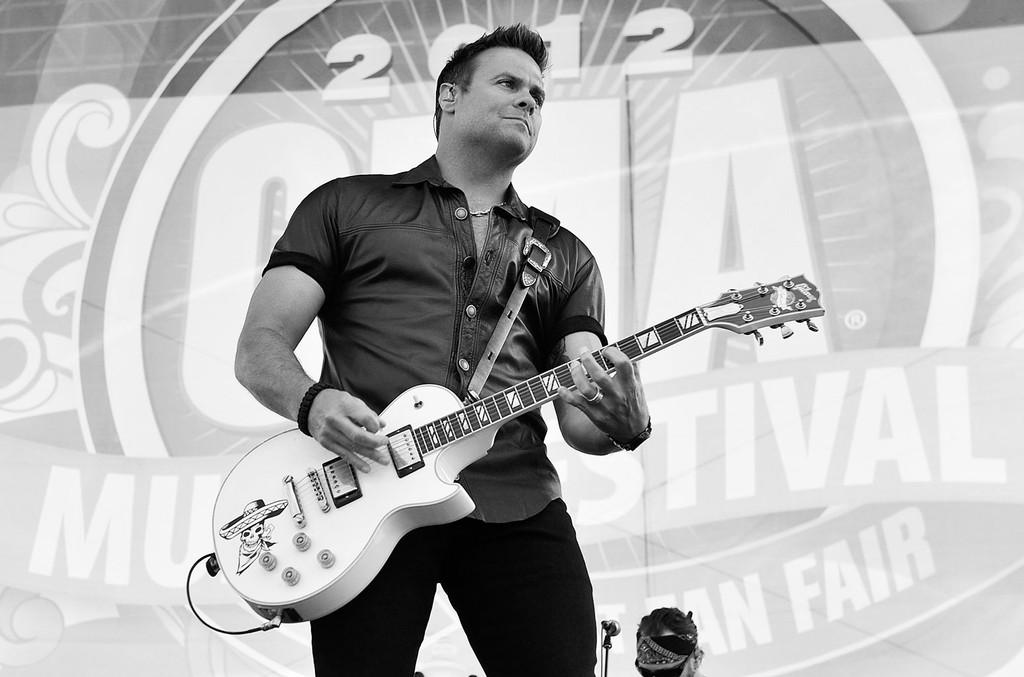 Troy Gentry of Montgomery Gentry performs during the 2012 CMA Music Festival on June 7, 2012 in Nashville.