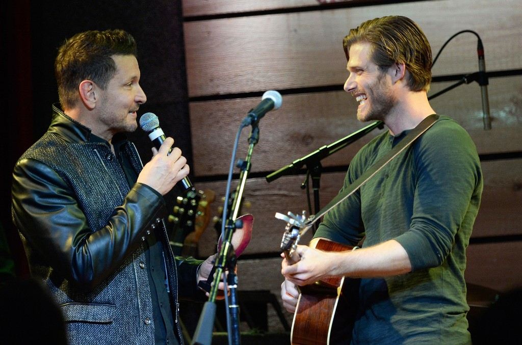 Ty Herndon and Chris Carmack speak onstage at The Concert For Love And Acceptance at City Winery Nashville on June 12, 2015 in Nashville, Tenn.
