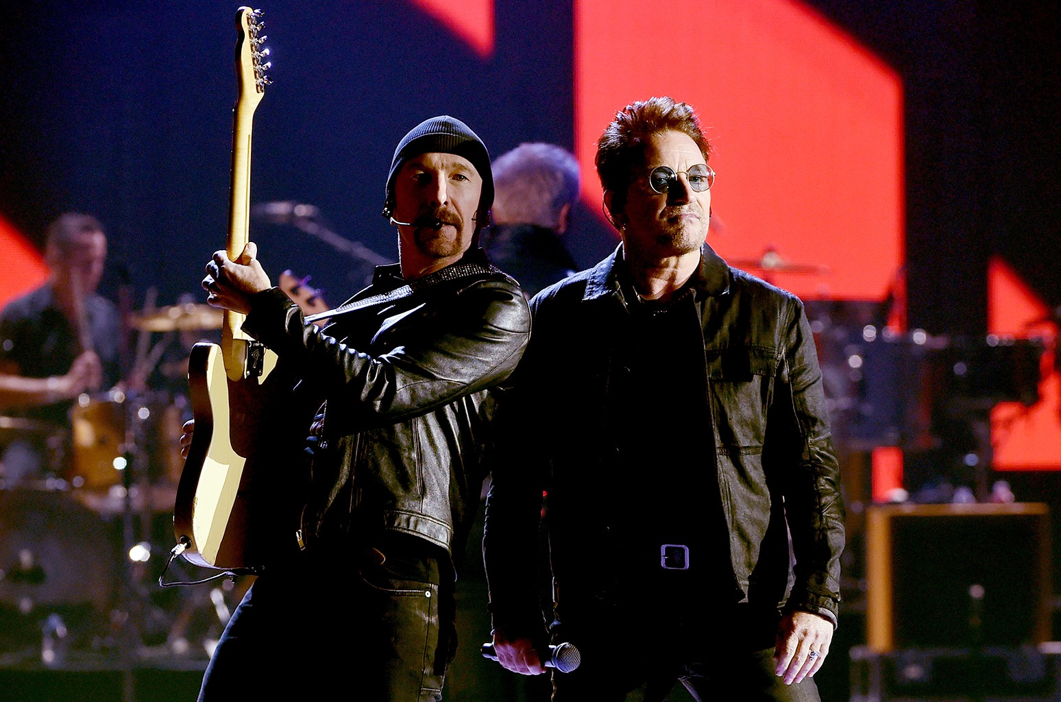The Edge and Bono of U2
