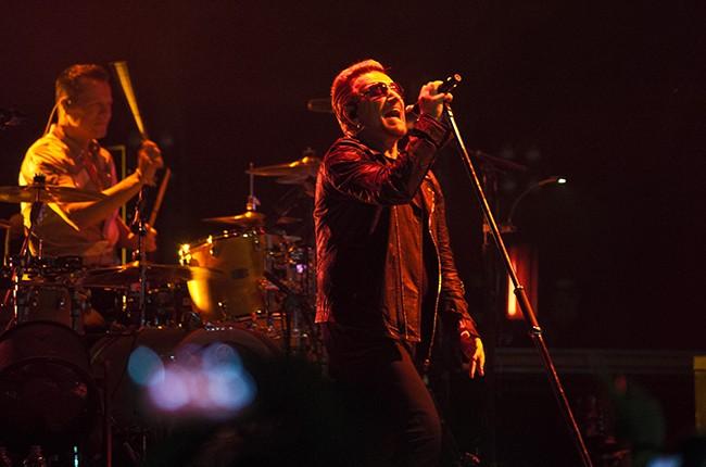 U2 perform at Palau Sant Jordi