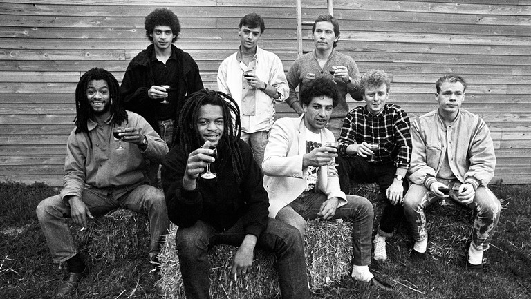 <p>UB40 before rehearsals at Shepton Mallet for Channel 4&#39&#x3B;s live rock show on Sept. 23, 1983.&nbsp&#x3B;&nbsp&#x3B;</p>