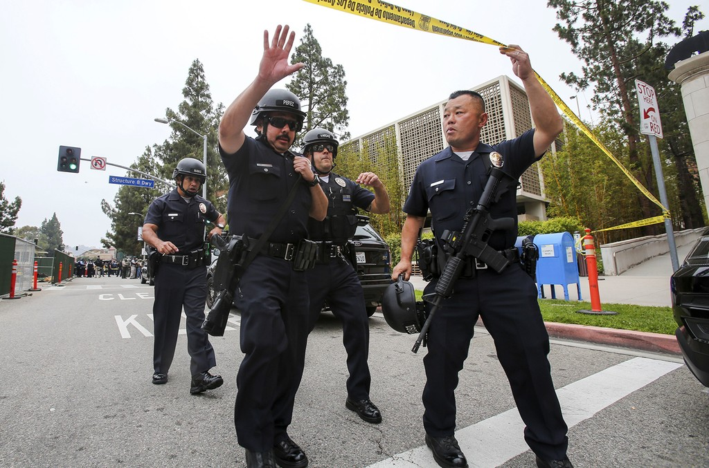 Police officers at UCLA