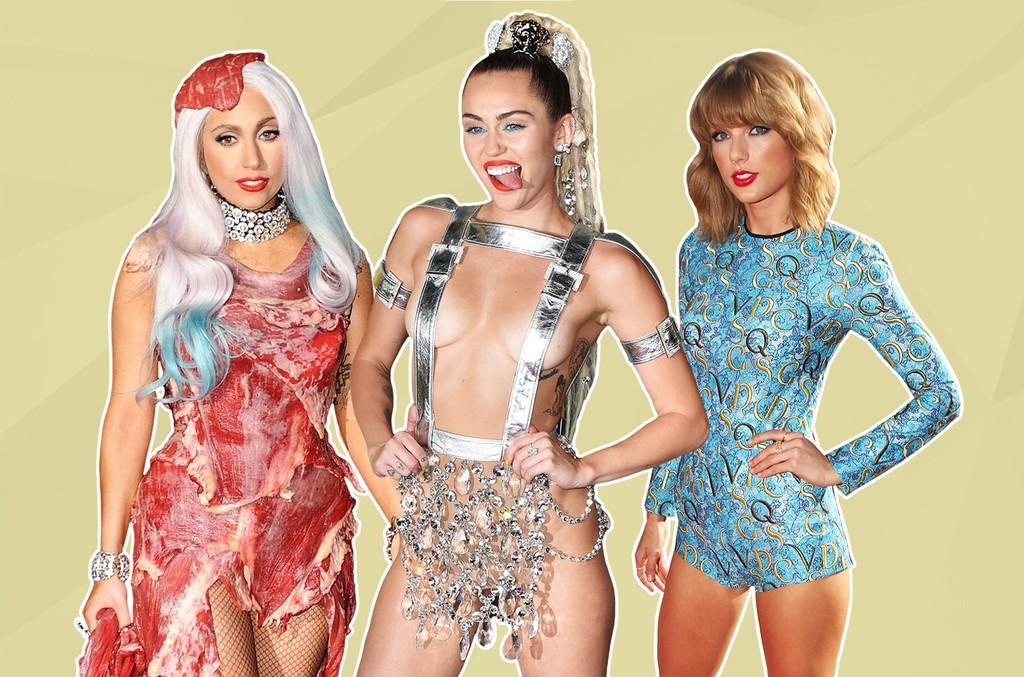 Lady Gaga, Miley Cyrus & Taylor Swift