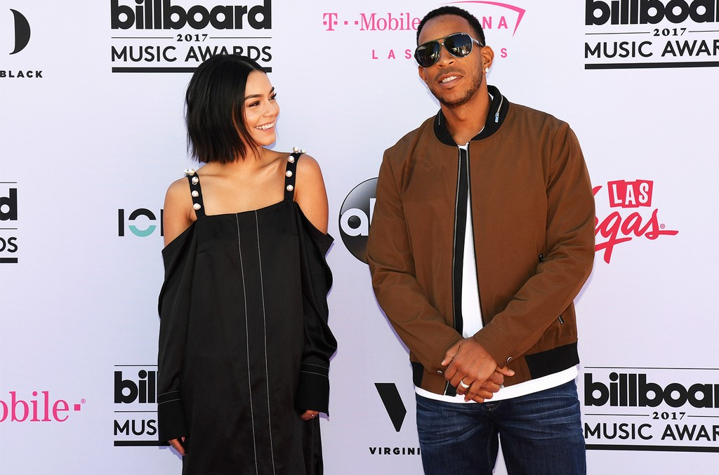 Vanessa Hudgens and Ludacris roll out the magenta carpet for the 2017 Billboard Music Awards at T-Mobile Arena on May 19, 2017 in Las Vegas.