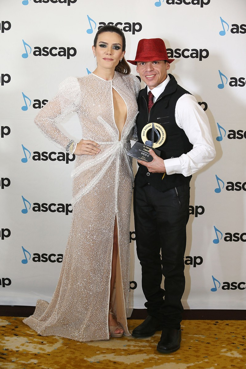 Vico C with Vanguard Award and ASCAP Writer Kany Garcia pose as part of ASCAP Latin Music Awards at Condado Vanderbilt Hotel on March 15, 2017 in San Juan, Puerto Rico.