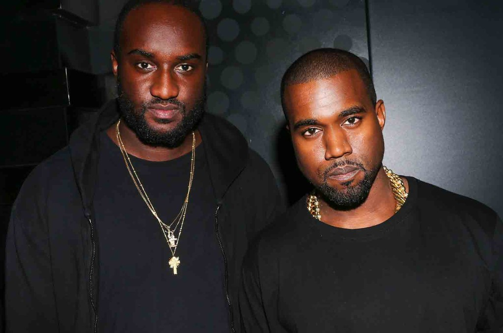 Virgil Abloh and Kanye West at the Givenchy show After Party during Paris Fashion Week on Sept. 30, 2012.