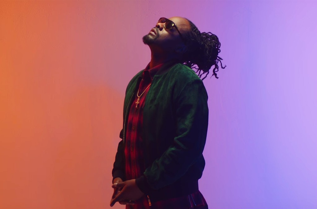 Wale in the video for Running Back featuring Lil Wayne