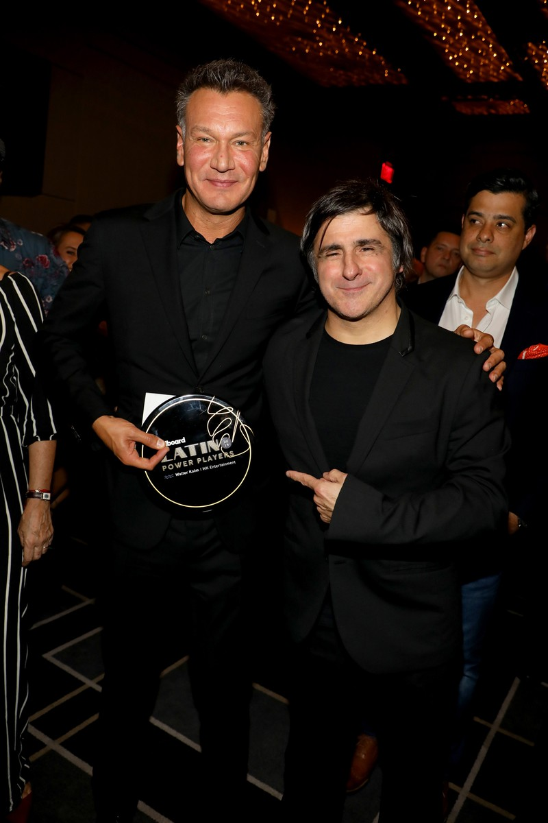 Walter Kolm, founder/president, WK Entertainment and Afo Verde, Chairman/CEO, Sony Music Latin Iberia attends Billboard 2018 Latin Power Players at W South Beach on Nov. 1, 2018 in Miami Beach.