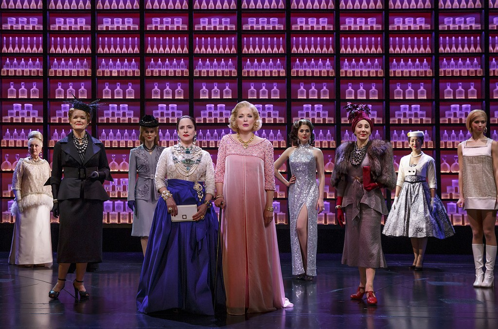 "Patti LuPone, Christine Ebersole and company in ""WAR PAINT""."