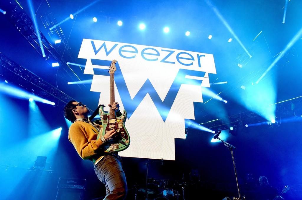Weezer performs onstage at KROQ Weenie Roast 2016