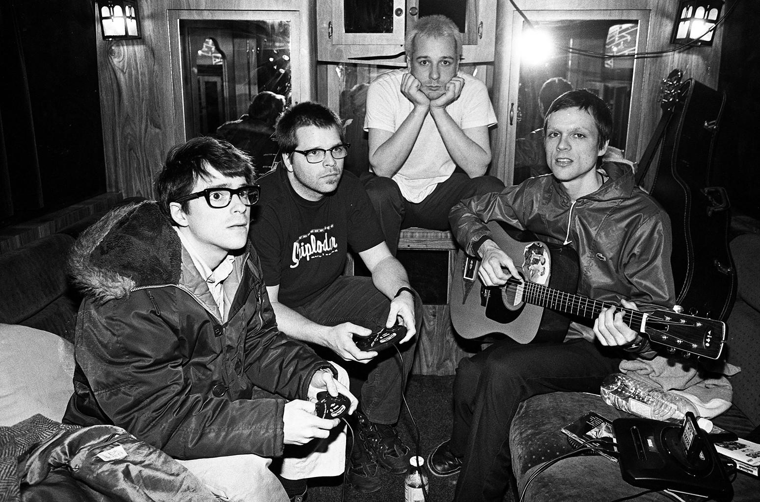 Weezer photographed in 1996.