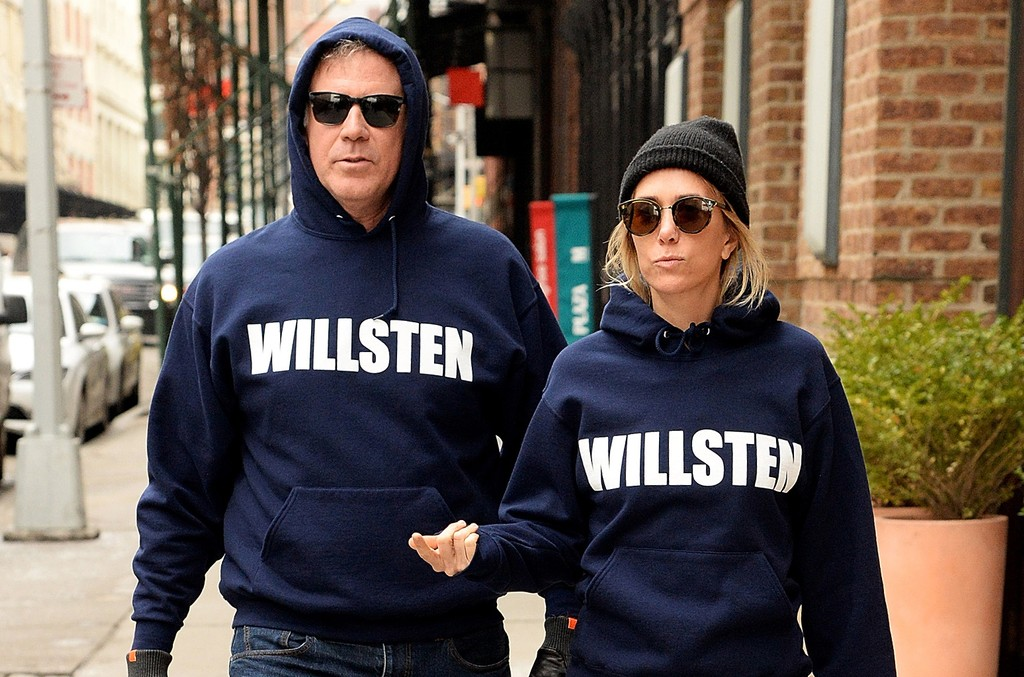 Will Ferrell and Kristen Wiig in Tribeca on Feb. 9, 2016 in New York City.