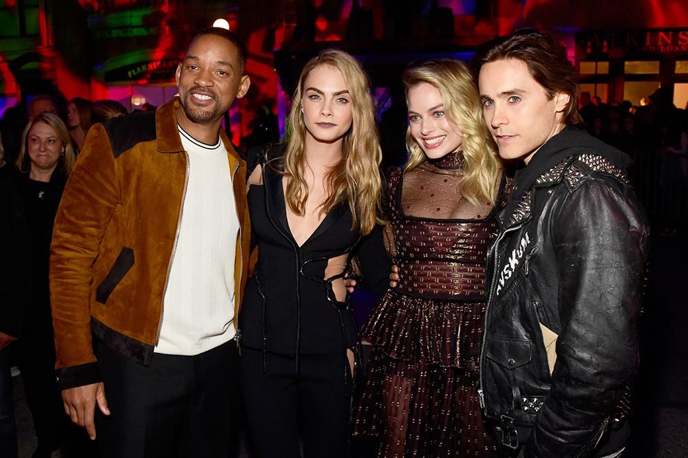 Will Smith, Cara Delevingne, Margot Robbie Jared Leto  2016 mtv movie awards