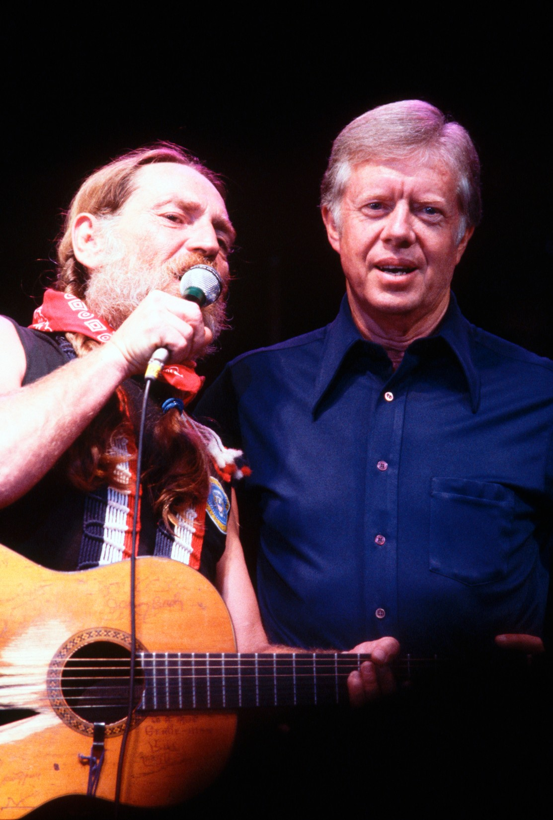President Jimmy Carter and Willie Nelson