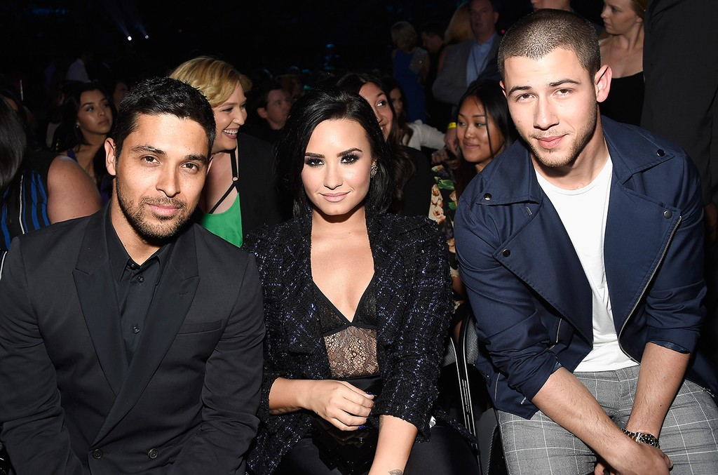 Wilmer Valderrama, Demi Lovato, and Nick Jonas