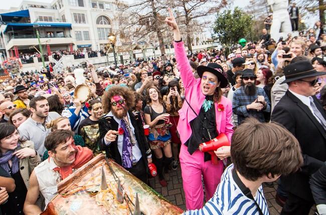 Win Butler Arcade Fire david bowie second line parade new orleans jan 2016