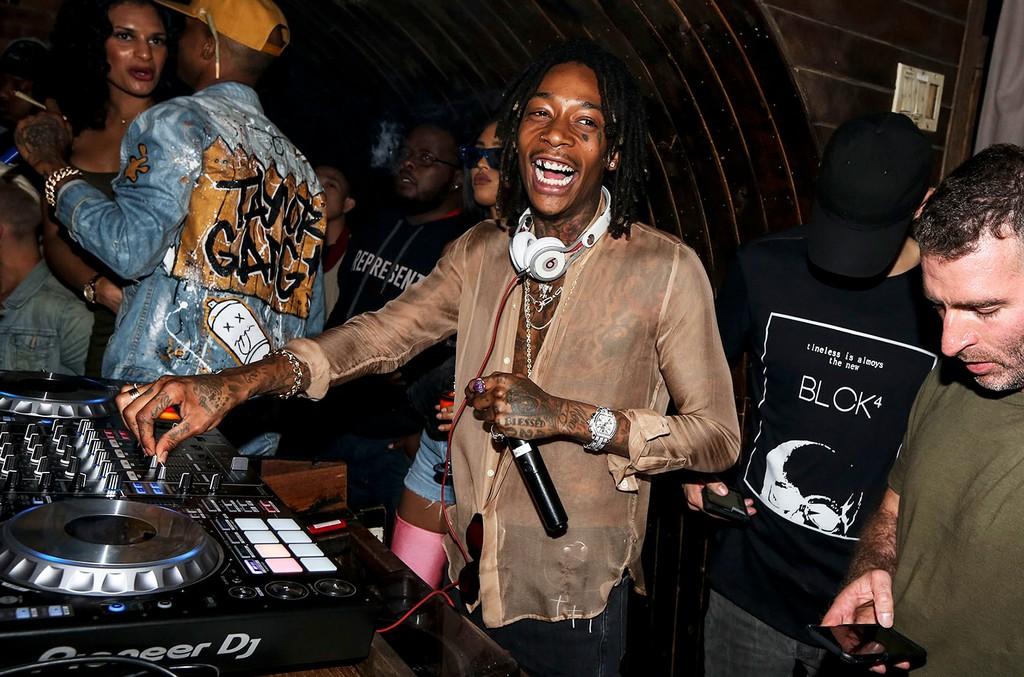 Wiz Khalifa DJS at the Gov Ball After Party at 1OAK on June 4, 2017.  1OAK