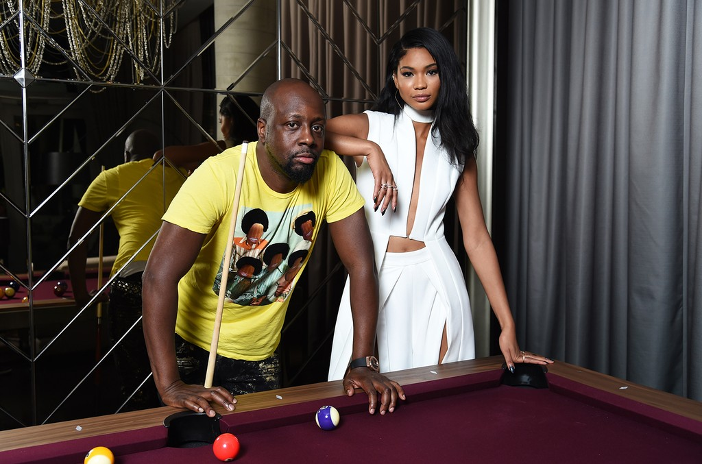 Wyclef Jean and Chanel Iman