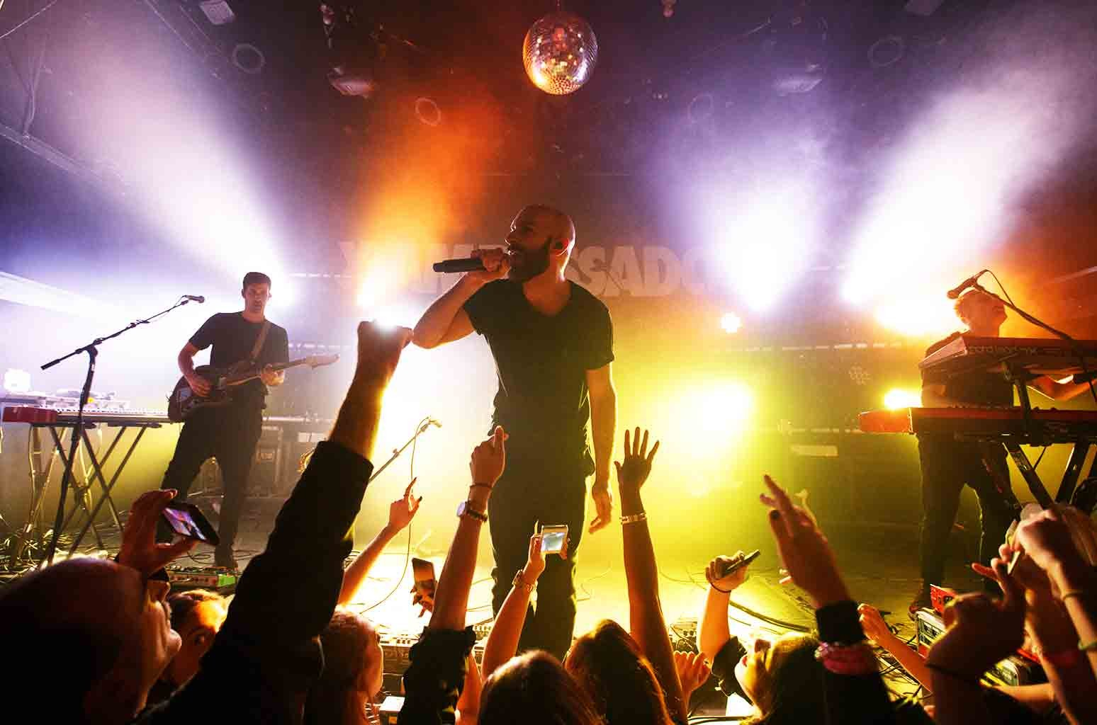 X Ambassadors performs on stage at Bowery Ballroom on Oct. 22, 2015 in New York City.