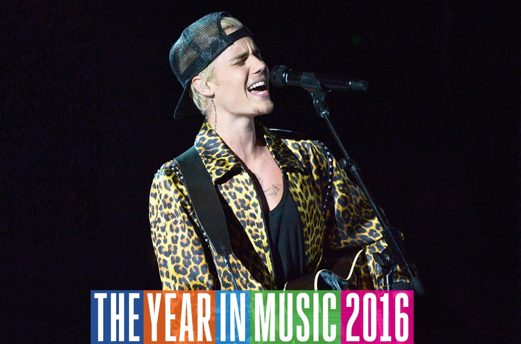 Justin Bieber performs onstage during The 58th Grammy Awards