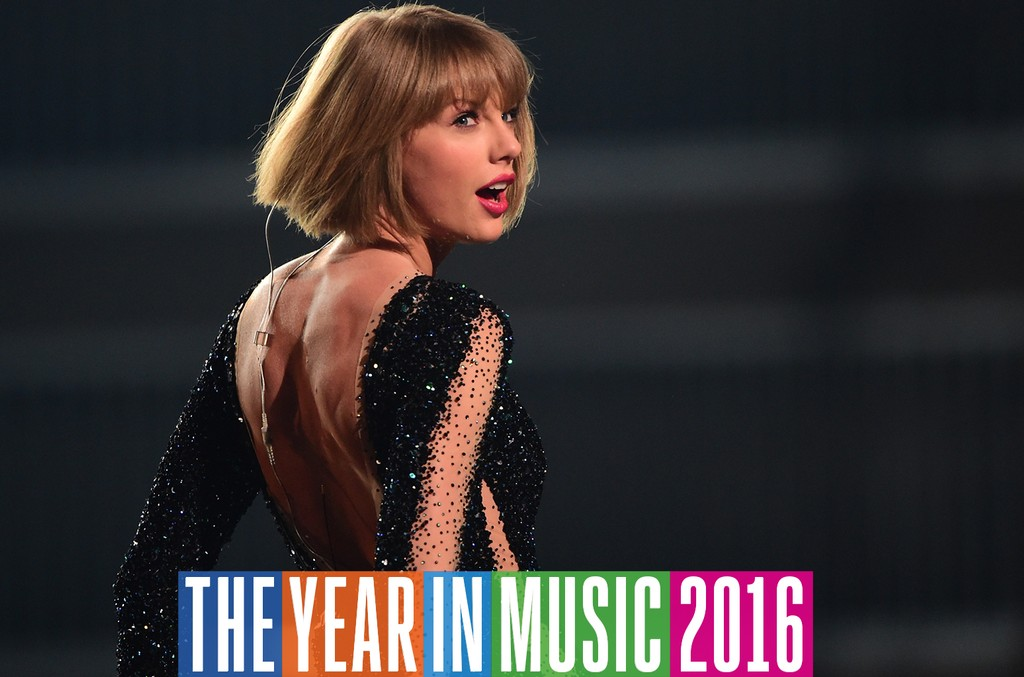 Taylor Swift performs during the 58th Annual Grammys