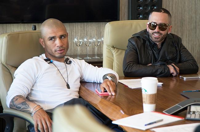 Yandel and Miguel Cotto