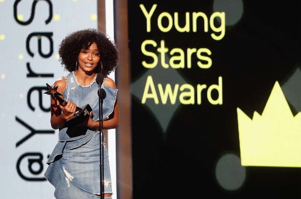 Yara Shahidi accepts the Young Stars Award onstage at 2017 BET Awards at Microsoft Theater on June 25, 2017 in Los Angeles.