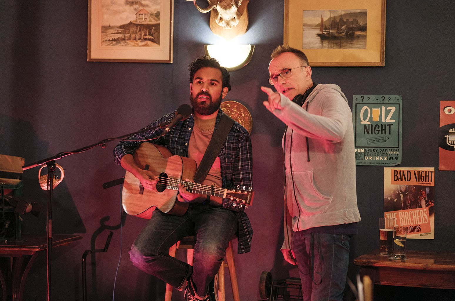 Danny Boyle and Himesh Patel