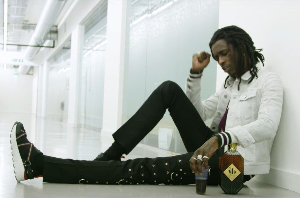"Young Thug in the video for ""Safe."""