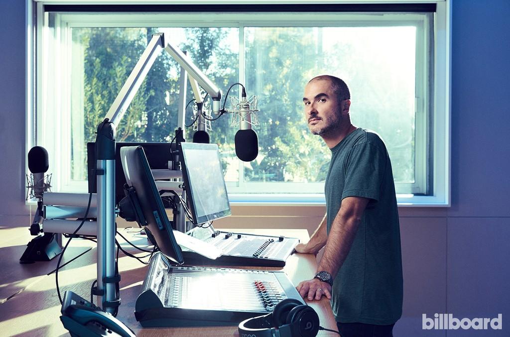 Zane Lowe photographed Nov. 8, 2016, in the Beats 1 studio in Culver City.