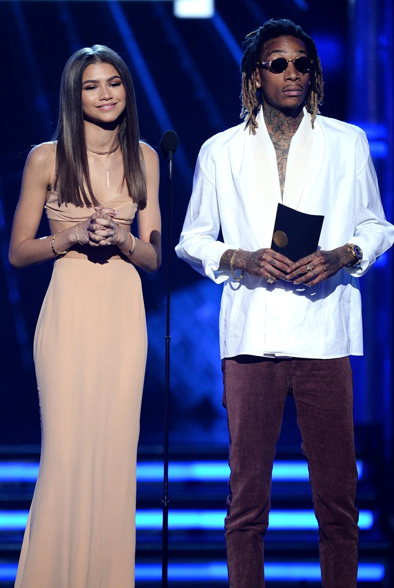 Zendaya and Wiz Khalifa at the 2016 Billboard Music Awards
