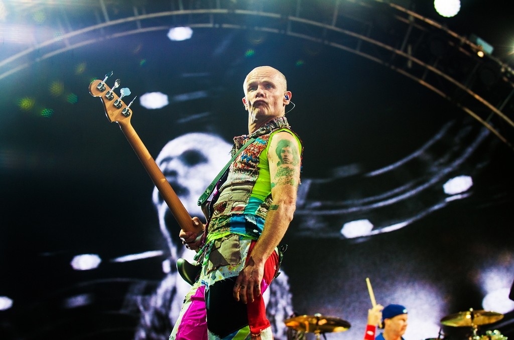 Flea and Chad Smith of The Red Hot Chili Peppers