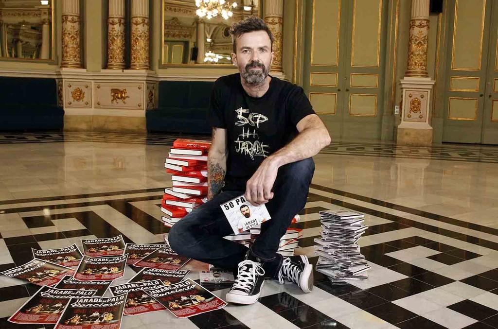 Pau Dones of 'Jarabe de palo' presents new album, book and tour '50 Palos' on Feb. 27, 2017 in Barcelona, Spain.