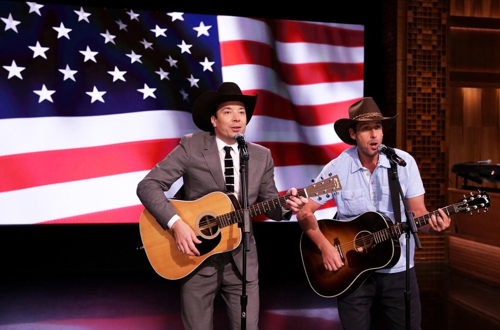 Jimmy Fallon and Adam Sandler The Tonight Show Starring Jimmy Fallon