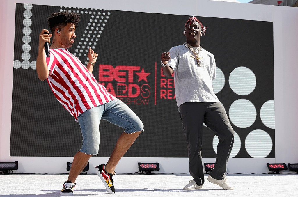KYLE and Lil Yachty at Live! Red! Ready! Pre-Show at the 2017 BET Awards at Microsoft Square on June 25, 2017 in Los Angeles.
