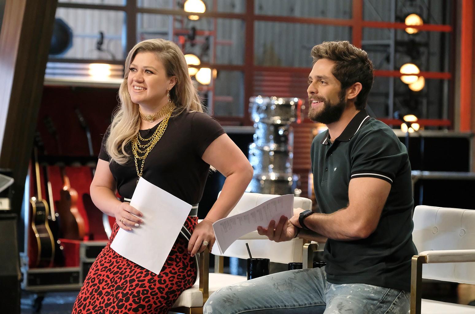 Kelly Clarkson and Thomas Rhett
