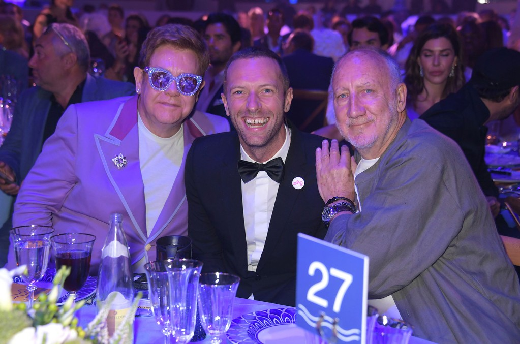 Sir Elton John, Chris Martin and Pete Townshend