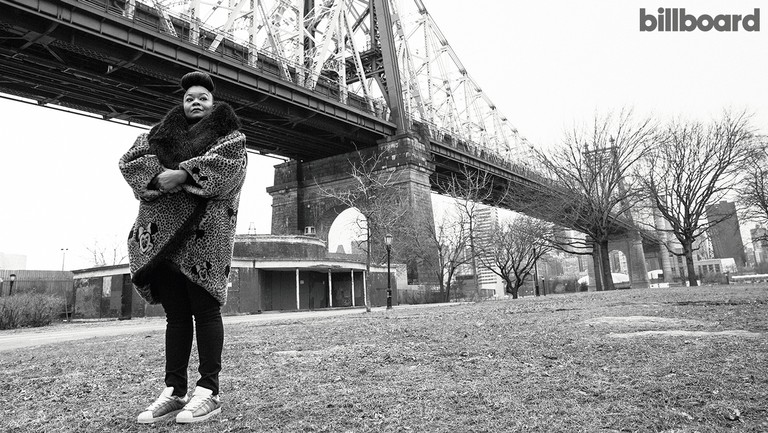 <p>Roxanne Shanté photographed on Feb. 9, 2018 at the Queensbridge Houses in Long Island City.</p>