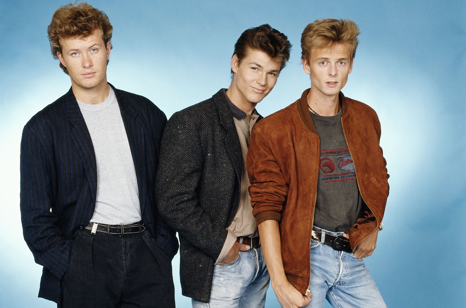 A-ha photographed in 1985.