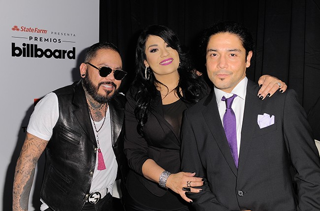A.B. Quintanilla, Suzette Quintanilla and Chris Pérez of Los Dinos