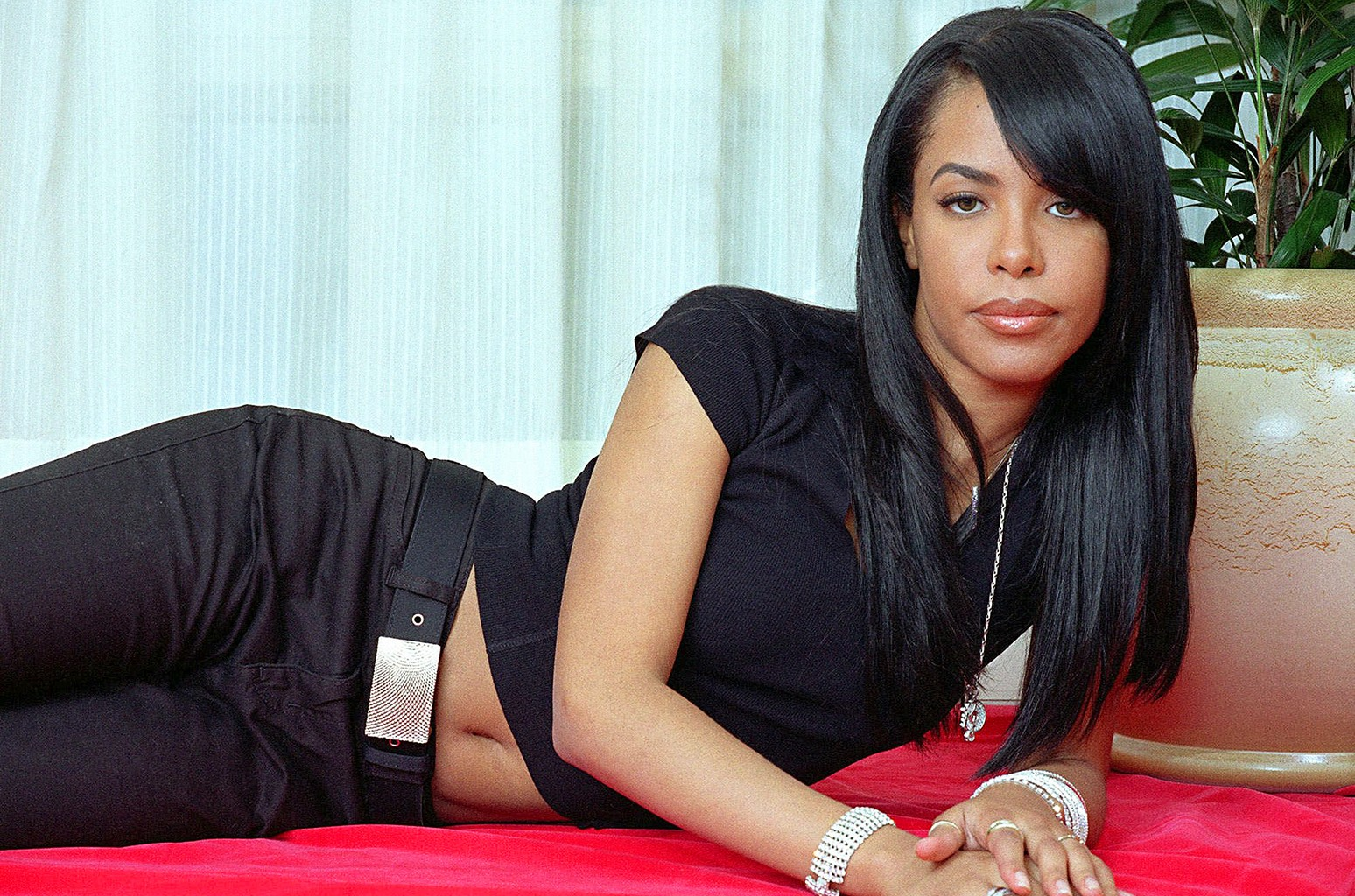 Aaliyah photographed in 2001.