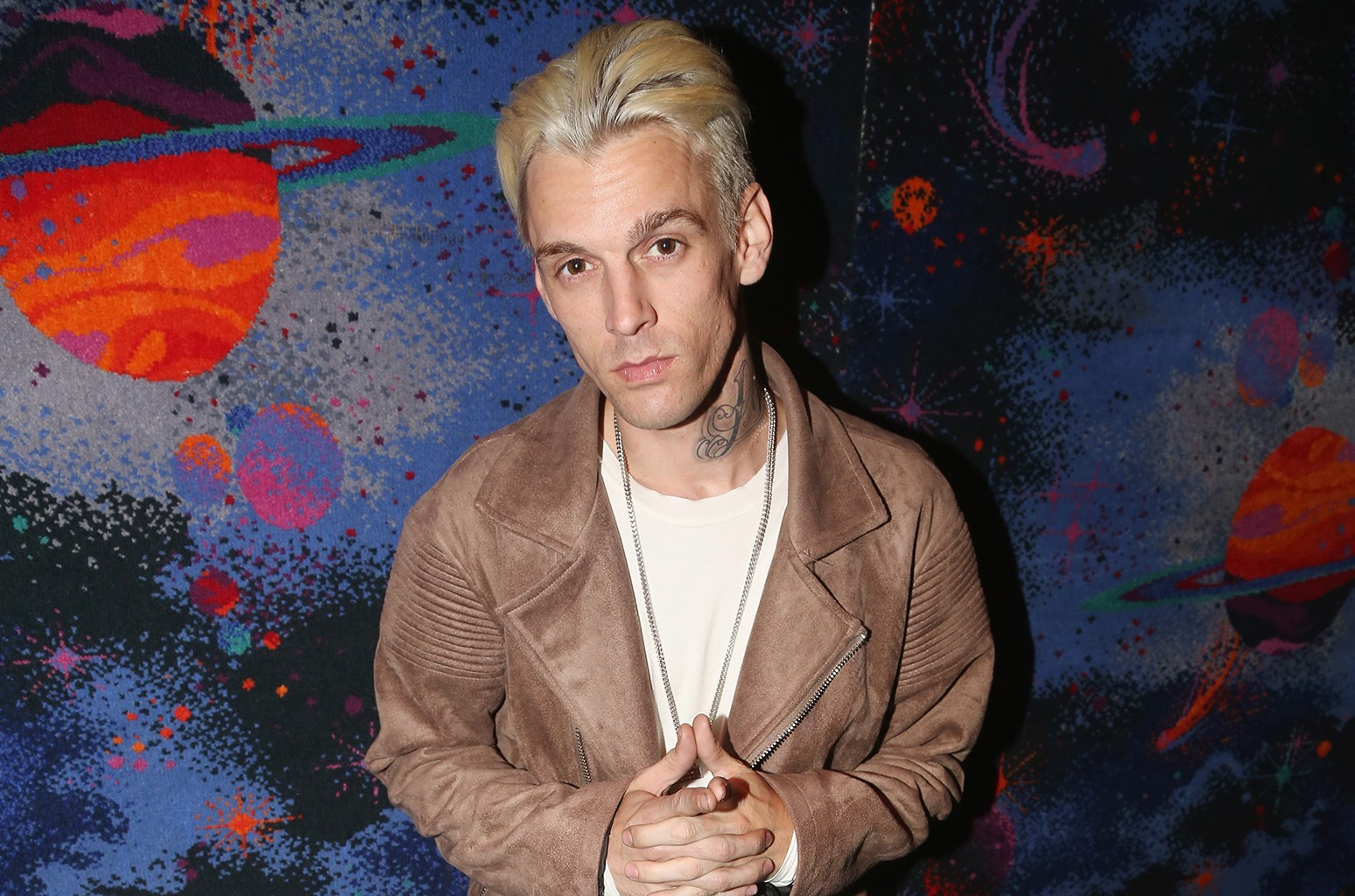 Aaron Carter photographed at Planet Hollywood Times Square on April 24, 2017 in New York City.