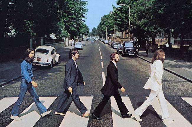 Beatles Abbey Road album cover photo