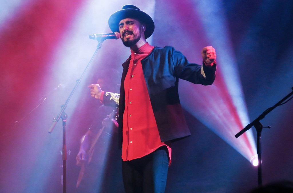 Abel Pintos performs during a concert at the Lunario of the National Auditorium in Mexico City on April 6, 2017.