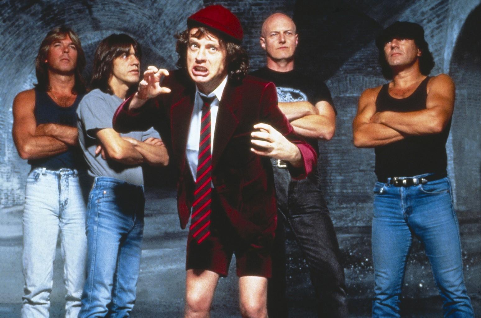 AC/DC in 1990.