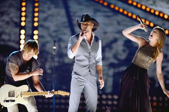 Keith Urban, Tim McGraw & Taylor Swift