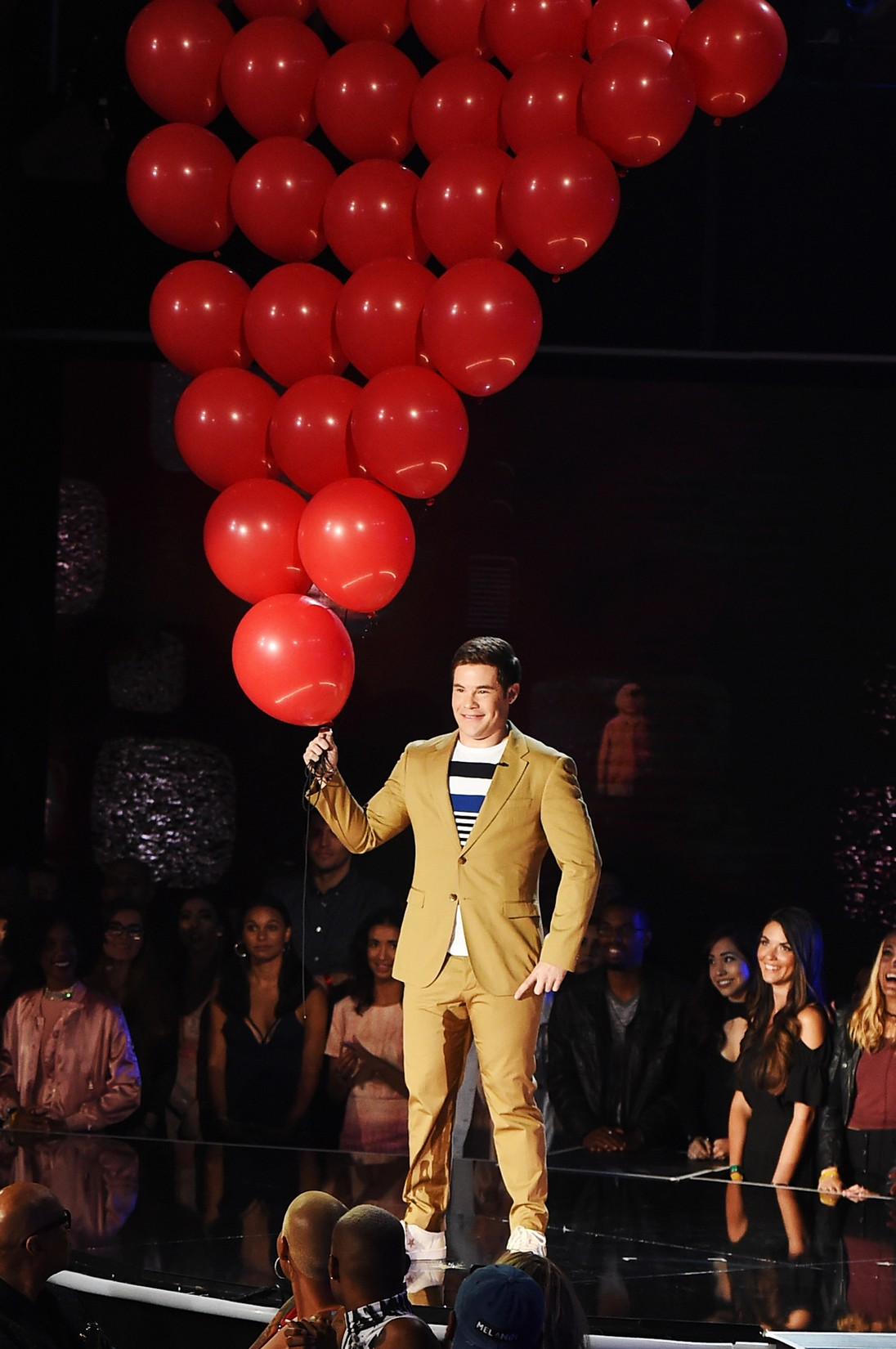Host Adam DeVine speaks onstage during the 2017 MTV Movie and TV Awards at The Shrine Auditorium on May 7, 2017 in Los Angeles.